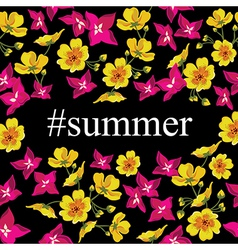 Abstract poster with tag Summer Floral background vector image