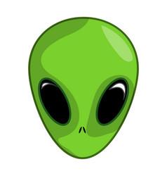 alien ufo face symbol icon design vector image