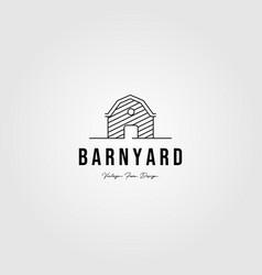 barn farm logo minimalist line art building vector image