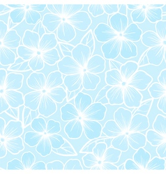 Beautiful seamless background of white and blue vector