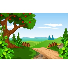 Beauty landscape for you design vector