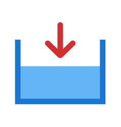 Below sea level icon vector