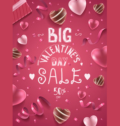 Big valentines day sale vector