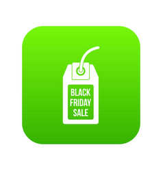 black friday sale tag icon digital green vector image
