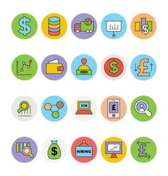 Business and Office Colored Icons 4 vector