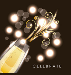 Celebrate champagne glass drink new year party vector