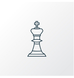 chess icon line symbol premium quality isolated vector image