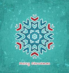 Christmas flake vector