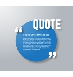 Circle Motivation Quote Template Blue and vector image