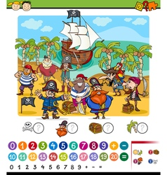 Counting game cartoon vector