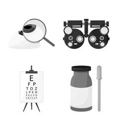 Design medicine and technology symbol vector