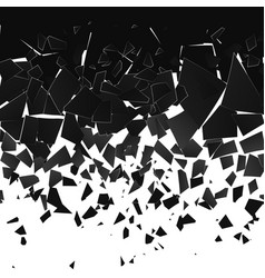 Destruction effect abstract cloud pieces and vector