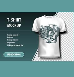Dragon stolen cross t-shirt template fully vector