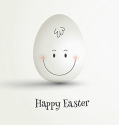 Easter egg with cute face vector