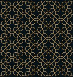 elegant line ornament pattern seamless pattern vector image