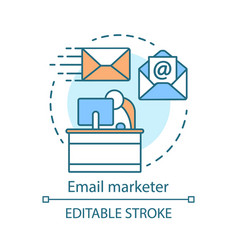 email marketer concept icon managing vector image