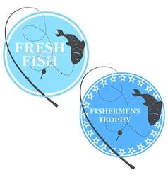 Emblem for fishing vector