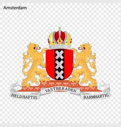 Emblem of amsterdam vector