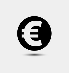 euro sign icon euro currency symbol money label vector image