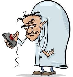 Evil scientist cartoon vector