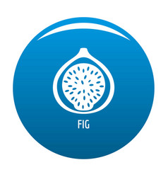 fig icon blue vector image