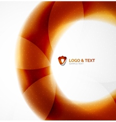 Fire orange abstract swirl template vector image