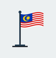 flag of malaysiaflag stand vector image
