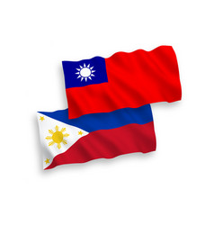 Flags philippines and taiwan on a white vector