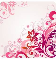 floral design graphic vector image