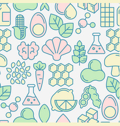 Food intolerance seamless pattern vector