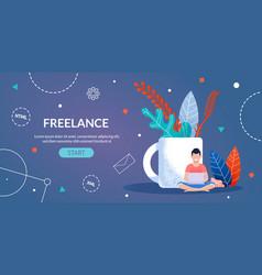 Freelance work for designer and programmer webpage vector