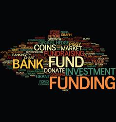 Funding word cloud concept vector