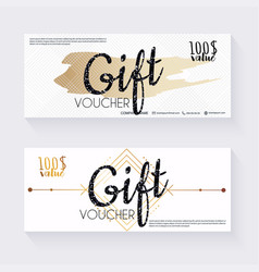 Gift voucher template with decorative background vector