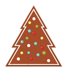 Gingerbread christmas cookie new year bakery icon vector