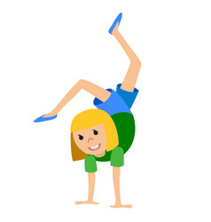 Girl in dancing class vector