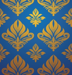 gold-blue-pattern vector image