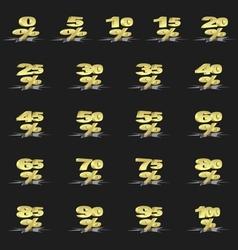 Golden percentage vector