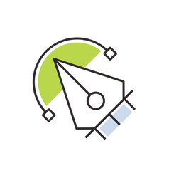 Green pen tool icon design vector