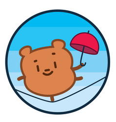 happy teddy bear vector image