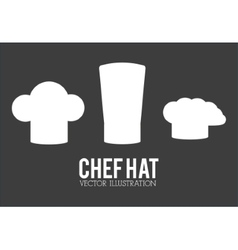 Hat icon set of restaurant chef design vector