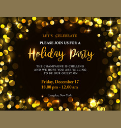 Holiday party invitation vector