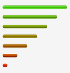 horizontal progress bars completion loading vector image
