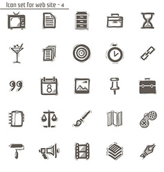 icons sketches for site vector image