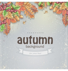 image autumn background with maple leaves oak vector image