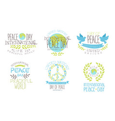 International peace day life in peaceful world vector