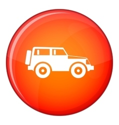 Jeep icon flat style vector image