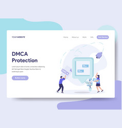 Landing page template of dmca protection concept vector