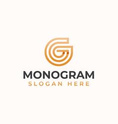 letter g monogram modern concept logo template vector image