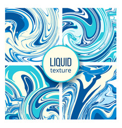 liquid texture set trendy oil marble or colored vector image