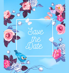 Lovely save date template with semi-colored vector